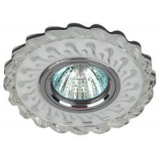 DK LD36 SL/WH Светильник ЭРА декор cо светодиодной подсветкой MR16, прозрачный (40/1200)