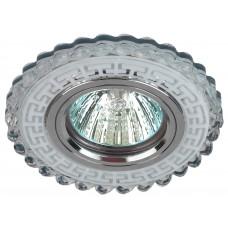 DK LD35 SL/WH Светильник ЭРА декор cо светодиодной подсветкой MR16, прозрачный (50/1400)