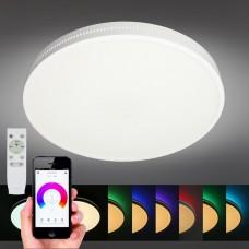 Люстра музыкальная Omnilux OML-47327-48 Melofon Белый LED 3000-6500K+RGB (в потолок) 48 Вт с пультом