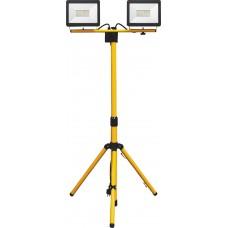 Прожектор на штативе Feron LL-502 2*30W 6400К желтый 180см