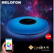 Музыкальный светильник c  динамиком Omnilux OML-47307-52 Melofon 52 Вт 3000-6000K/RGB с пультом