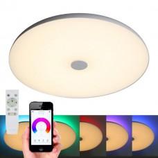 Люстра музыкальная Omnilux OML-47317-48 Melofon Белый LED 3000-6500K+RGB (в потолок) 48 Вт с пультом