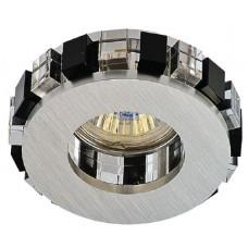 Встраиваемый светильник Светкомплект AG19 ALUM/BK+WH ф90мм MR16