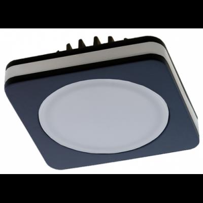 Светильник светодиодный встраиваемый Светкомплект SDF-01S 7W BK 4000K 80*80 мм 630Lm IP44