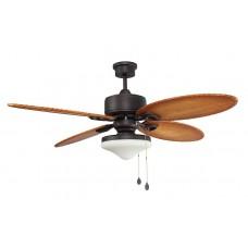 Люстра с вентилятором Faro Lombok 33019FAR Ø 132 см, коричневый/клен, 1 плафон, 2 лампы, 4 лопасти