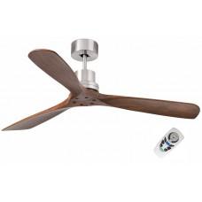 Потолочный вентилятор Faro Lantau 33370FAR Ø 132 см, матовый никель/грецкий орех, без плафонов, 3 лопасти