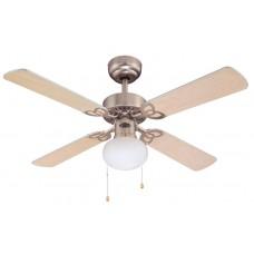 Люстра с вентилятором Westinghouse Vegas 72272WES ∅ 105 см, матовый никель/серый/клен, 1 плафон, 1 лампа, 4 лопасти