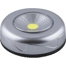 Светодиодный светильник-кнопка Feron FN1205 (3шт в блистере), 2W, серебро