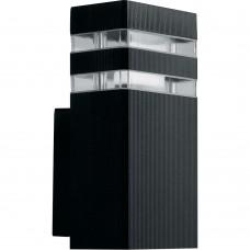 Светильник садово-парковый Feron DH0806, на стену вверх,  E27 230V, черный
