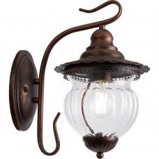Светильник садово-парковый Feron PL591 на стену вниз 60W 230V E27, коричневый