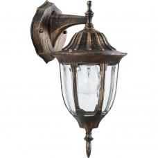 Светильник садово-парковый Feron PL6302 шестигранный на стену вниз 60W 230V E27, черное золото