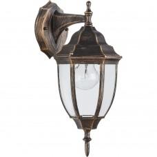 Светильник садово-парковый Feron PL6002 шестигранный на стену вниз 60W E27 230V, черное золото