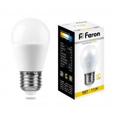 Лампа светодиодная Feron LB-750 Шарик E27 11W 2700K