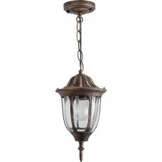 Светильник садово-парковый Feron PL6305 шестигранный на цепочке 60W E27 230V, черное золото