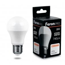 Лампа светодиодная Feron.PRO LB-1009 Шар E27 9W 4000K
