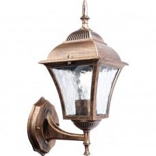 Светильник садово-парковый Feron PL611 четырехгранный на стену вверх 60W E27 230V, черное золото
