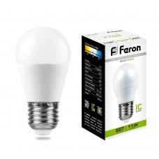 Лампа светодиодная Feron LB-750 Шарик E27 11W 4000K