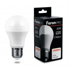 Лампа светодиодная Feron.PRO LB-1020 Шар E27 20W 2700K OSRAM LED