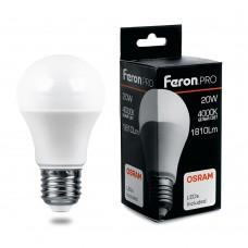 Лампа светодиодная Feron.PRO LB-1020 Шар E27 20W 4000K