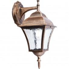 Светильник садово-парковый Feron PL612 четырехгранный на стену вниз 60W E27 230V, черное золото
