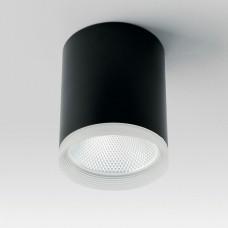 Светодиодный светильник Feron AL533 накладной 25W  4000K черный 100*100