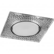 Светильник встраиваемый Feron DL4110 потолочный GX53 прозрачный, хром