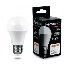 Лампа светодиодная Feron.PRO LB-1013 Шар E27 13W 4000K OSRAM LED