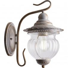 Светильник садово-парковый Feron PL591 на стену вниз 60W 230V E27,  белое золото
