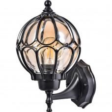 Светильник садово-парковый Feron PL3801  круглый на стену вверх 60W 230V E27, черный
