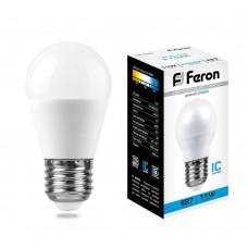 Лампа светодиодная Feron LB-750 Шарик E27 11W 6400K