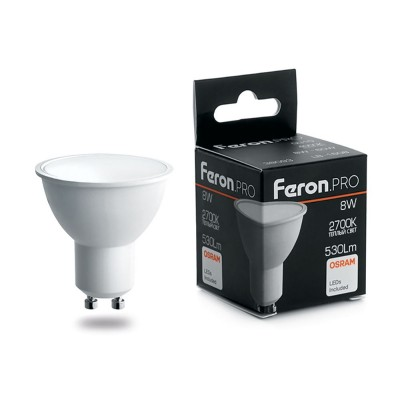 Лампа светодиодная Feron.PRO LB-1608 GU10 8W 2700K OSRAM LED