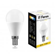 Лампа светодиодная Feron LB-750 Шарик E14 11W 2700K
