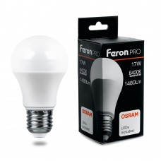 Лампа светодиодная Feron.PRO LB-1017 Шар E27 17W 6400K
