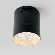 Светодиодный светильник Feron AL521 накладной 20W 4000K черный с золотым кольцом