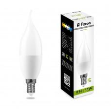 Лампа светодиодная Feron LB-770 Свеча на ветру E14 11W 4000K