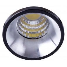 Светодиодный светильник Feron LN003 встраиваемый 3W 4000K черный с хромом