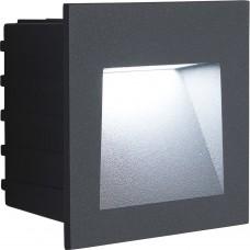 Светодиодный светильник Feron LN013 встраиваемый 3W 4000K, IP65, серый