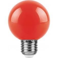 Лампа светодиодная Feron LB-371 Шар E27 3W красный