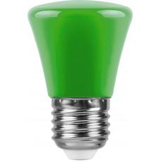 Лампа светодиодная Feron LB-372 Колокольчик E27 1W зеленый