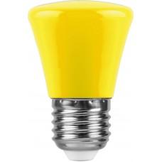 Лампа светодиодная Feron LB-372 Колокольчик E27 1W желтый