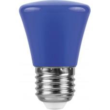 Лампа светодиодная Feron LB-372 Колокольчик E27 1W синий