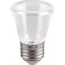 Лампа светодиодная Feron LB-372 Колокольчик прозрачный E27 1W 6400K