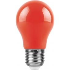 Лампа светодиодная Feron LB-375 E27 3W красный