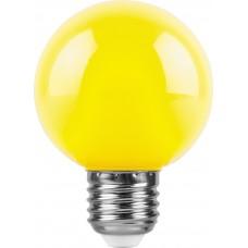 Лампа светодиодная Feron LB-371 Шар E27 3W желтый