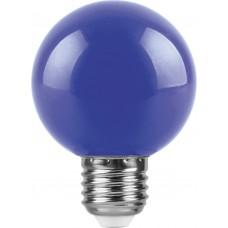 Лампа светодиодная Feron LB-371 Шар E27 3W синий