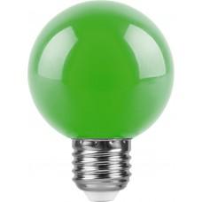 Лампа светодиодная Feron LB-371 Шар E27 3W зеленый