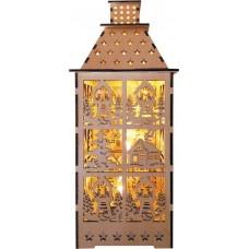 Деревянная световая фигура, 5LED, цвет свечения: теплый белый,  12*12,5*29,5 сm, батарейки 2*AA , IP20, LT091
