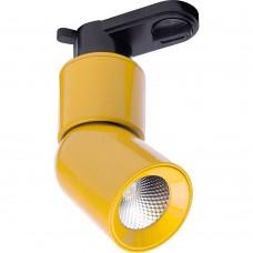 Светодиодный светильник Feron AL114 трековый на шинопровод 10W 4000K 35 градусов желтый