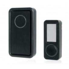 Звонок дверной беспроводной Feron E-379 Электрический 18 мелодий черный с питанием от батареек