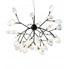 Люстра Ветта черный (прозрачные плафоны) d72 h157 G4 36*2W (Led лампы в комплекте, 4000K) (высота корпуса светильника h57)